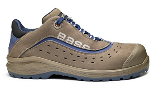 BASE Protection BE-ACTIVE, Scarpe da Lavoro Antinfortunistiche Uomo Marrone, Microfibra, Bassa, 41