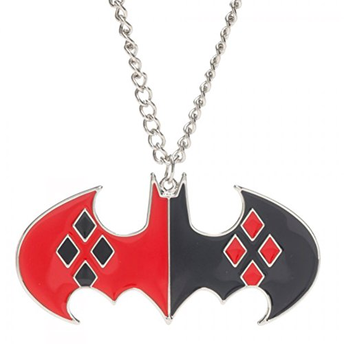 Harley Quinn Batman Logo Enamel Chain Necklace