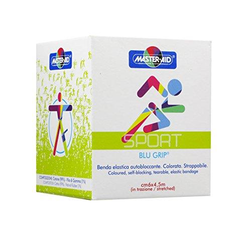 Master Aid Sport Blu grip benda elastica autobloccante cm 6 x 4,5 m