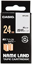 Casio 24mm CLEAR EZ Label Printer Tape