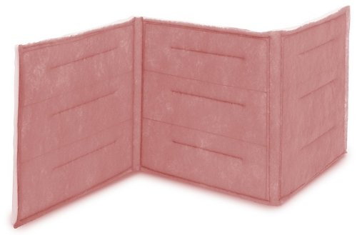 """Filtration Group 10986 3-Ply Ring Link Air Filter, Synthetic Polyester Media, Pink/White, 6 MERV, 10 Panels, 20"""" Height x 100"""" Width x 1"""" Depth (Case of 2)"""