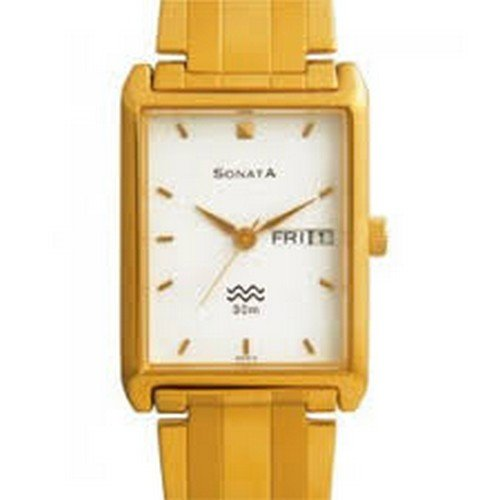 Sonata Analog White Dial Men's Watch - NC1179YM05A