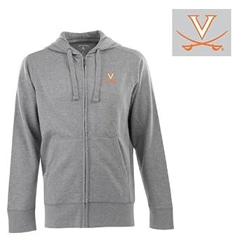 NCAA Virginia Cavaliers Full Zip Hoodie Mens by Antigua