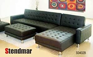 Sectional Sofas Wiki New Euro Design Black Leather Sectional Sofa Sleep Bed S0402b Reviews