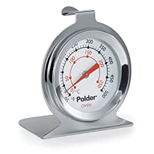 Polder 550 Oven Thermometer, Stainless Steel