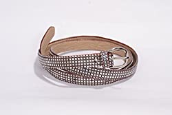 Women brown and silver design belt
