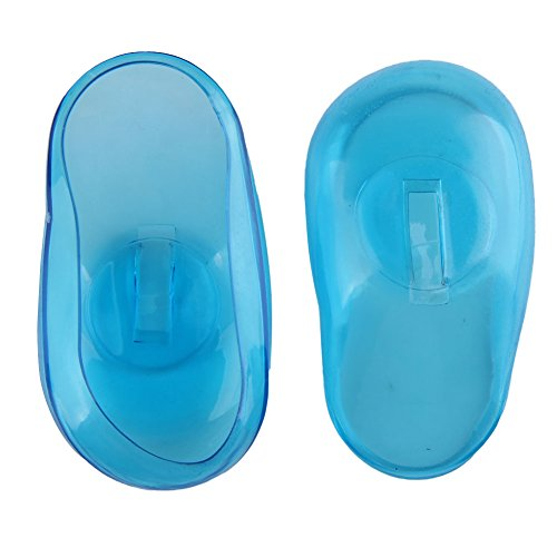 Vktech 2PCS Blue Clear Silicone Ear Cover Hair Dye Shield Protect Salon Color