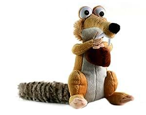 Scrat Hug 7'' Acorn Plush Toy Doll Super Soft Fluffy Squirrel Ice Age Teddy Bear Film Continental Drift