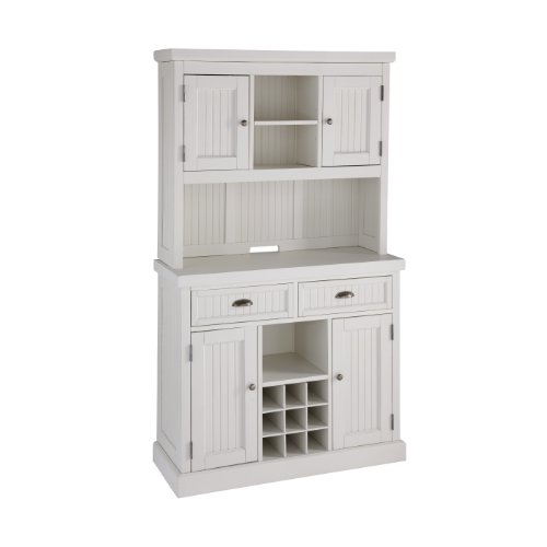 Home Styles 5022-617 Nantucket Buffet And Hutch, Distressed White front-247705