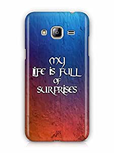 YuBingo My Life is Full of Surprises Designer Mobile Case Back Cover for Samsung Galaxy J3 2016