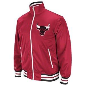 Chicago Bulls Mitchell & Ness NBA Preseason Warmup Full Zip Premium Track Jacket by Mitchell & Ness