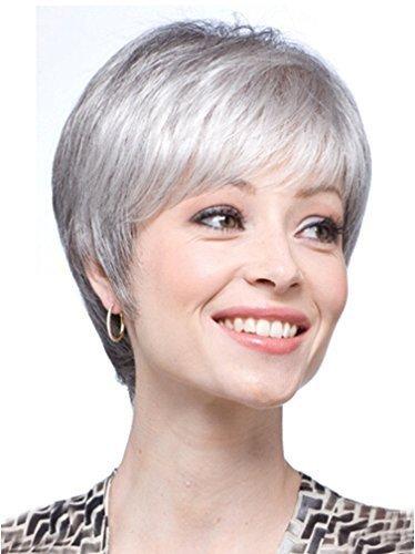 Perruques cheveux gris blancs