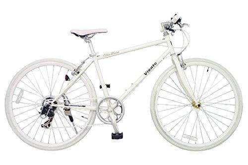 ANIMATO(アニマート) クロスバイク VIENTO (ヴィエント) 700C ホワイト シマノ7段変速 A-1