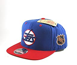 Winnipeg Jets Embroidered Flat-Billed Snapback Cap by American Needle