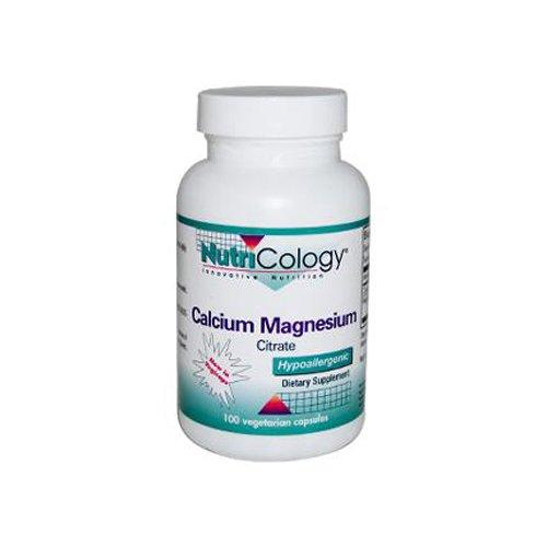 Nutricology Calcium Magnesium Citrate Capsules 100 Count - 5 Pack