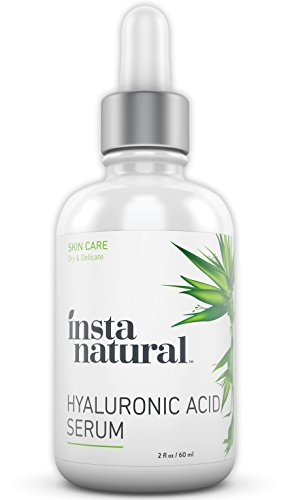 InstaNatural Hyaluronic Acid Serum - Anti Aging Serum for Face - Reduces Wrinkles, Fine Lines & More - For Youthful & Radiant Skin - With Vitamin C Serum and More - 2 OZ