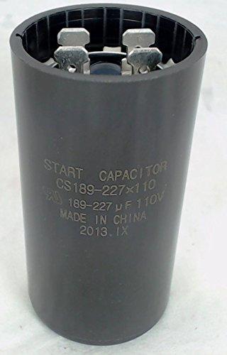 Start Capacitor for Appliances, Hvac, Pools, Motors 189-227 MFD 110 125 Volts