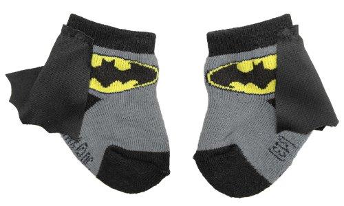 Batman Infant Socks with Cape, Black/Grey Review