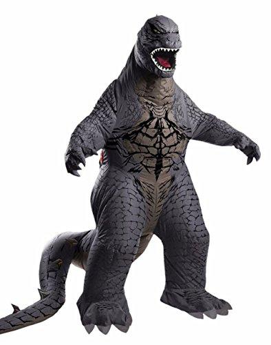 Mememall Fashion Deluxe Adult Inflatable Godzilla Costume Horror Monster Lizard (Godzilla Inflatable Costume)