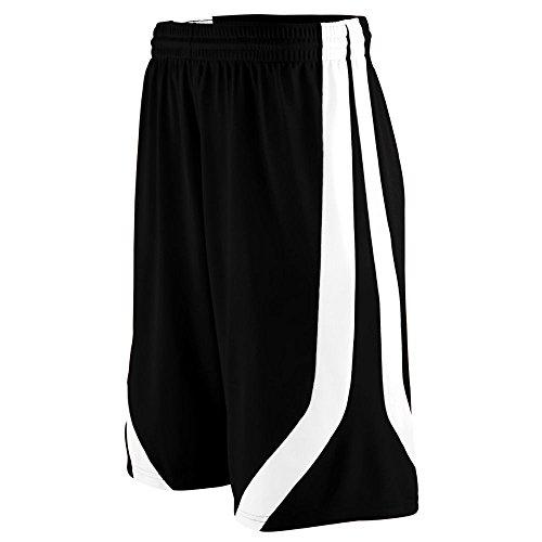 Augusta Sportswear 1046 Youth's Triple-Double Game Short Black/White L