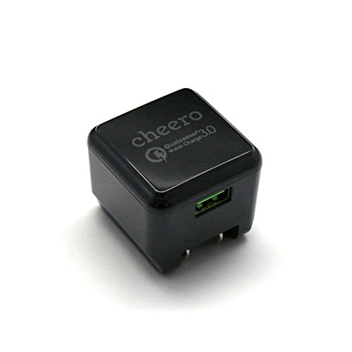 [ Quick Charge 3.0 ] cheero USB AC Charger QC3.0 ACアダプター (ブラック) CHE-315-BK