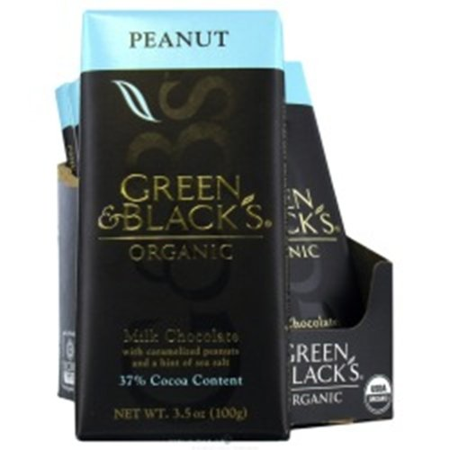 Green & Black's Chocolate Bar - Milk With Peanuts & Sea Salt, 3.5-Ounce (Pack of 5)