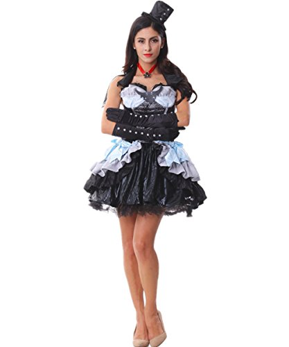 Voglee Sexy Evil Queen Witch Vampire Gothic Adult Costume Cosplay