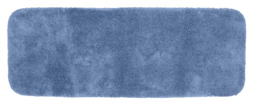 Garland Rug Finest Luxury Ultra Plush Washable Nylon Rug, 22-Inch By 60-Inch, Basin Blue front-704409