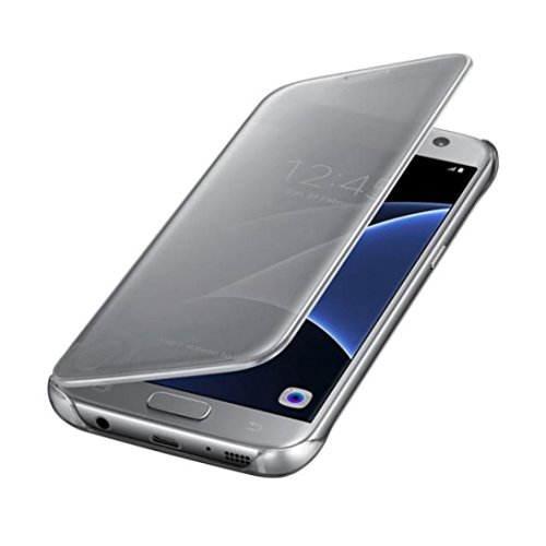 per Samsung Galaxy S7,Internet Clear View flip mirror intelligente Custodia (Argento)