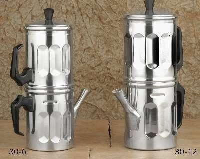 Neapolitan 6 cup Aluminum Espresso Maker - 30-6