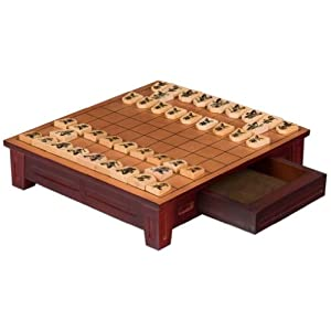 Wooden Shogi Game Set Japanese Chess Table Board