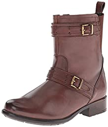Clarks Women\'s Plaza City Riding Boot, Brown Leather, 6.5 M US