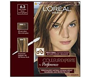 L39Oreal Couleur Experte MultiTonal Hair Colour 63 Light Golden Brown Go