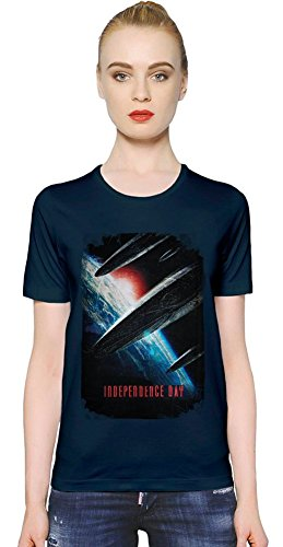 Independence Day Spaceship Attack T-shirt donna Women T-Shirt Girl Ladies Stylish Fashion Fit Custom Apparel By Slick Stuff XX-Large