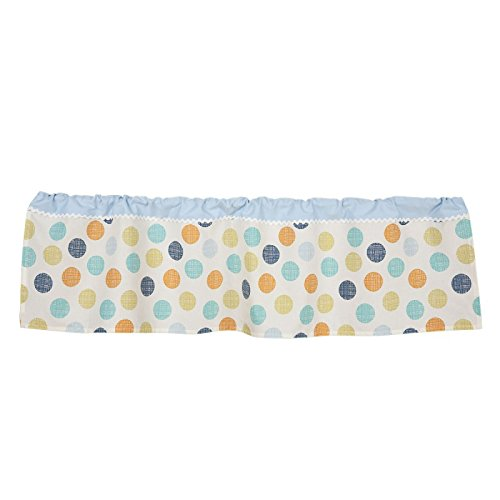 Lolli Living Baby Bot Window Valance, Orange/Green/Blue - 1