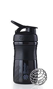 BlenderBottle Sportmixer Shaker transparent, schwarz, 1er Pack
