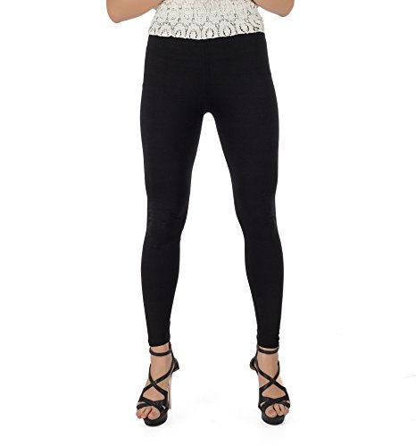 Legrisa Fashion Women's black Ankle Length Leggings in XL, XXL & XXXL  available at amazon for Rs.314
