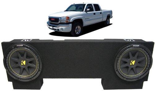 "Asc Package Gmc Sierra 01-07 2500Hd Crew Truck Dual 12"" Kicker C12 Subwoofer Sub Box Enclosure 600 Watts Peak"