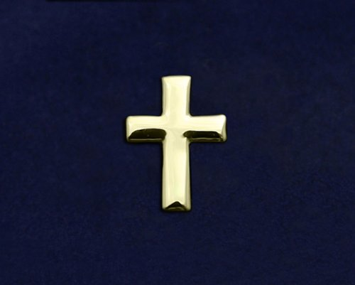 Religious Pin - Gold Cross Tac Pin (50 Pins)
