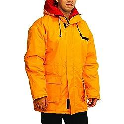 ICE BEAR Men's Thinsulate Winter Parka Jacket (CGT2P-M, Yellow, Medium)