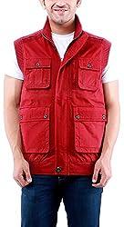 Time Option Men's Cotton Jacket (5011_Mehroon_40)