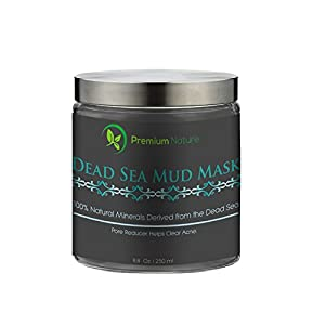 Dead Sea Mud Mask, Melts Cellulite, Treats Acne and Problem Skin, Also Acts as Pore Minimizer and Wrinkle Reducer, By Premium Nature®