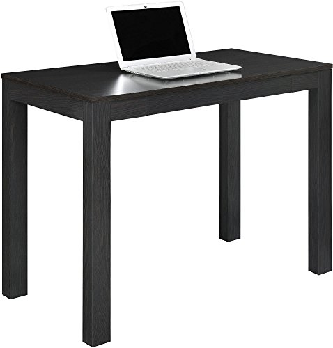 parsons desk with drawer espresso finish rustic touch rustic decor and furniture. Black Bedroom Furniture Sets. Home Design Ideas