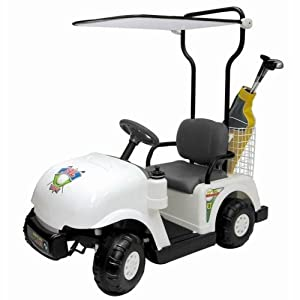 Golf Cart in White by Kidz Motorz