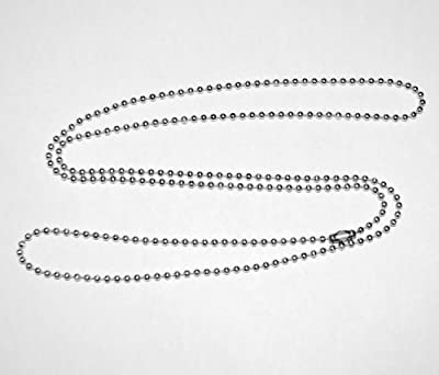 Stainless Steel Necklace, Military Dog Tag Ball Chain, 2.4mm #3 bead