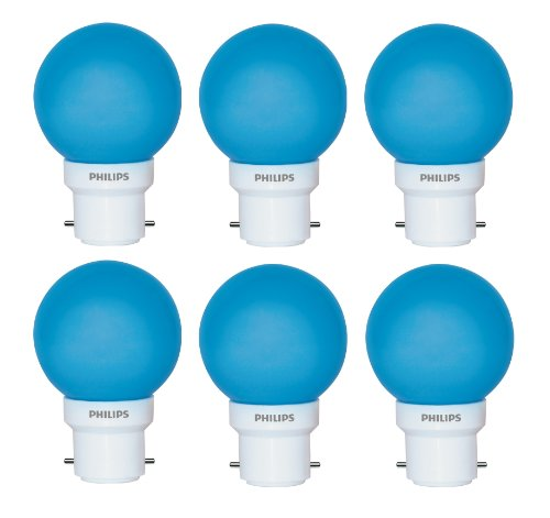 Philips Philips Deco Mini 0.5-Watt B22 Base LED Bulb (Blue And Pack Of 6) (Green)
