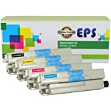 EPS Replacement Toner Set For Oki Okidata C310dn C330dn C510dn C530dn MC362w MC562w (BCMY)