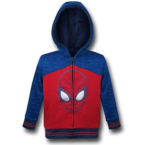 Spiderman Head Kids Sherpa Hoodie- 4T