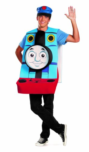Disguise Thomas and Friends Classic Adult Costume, Blue/Red/Yellow, X-Large/42-46