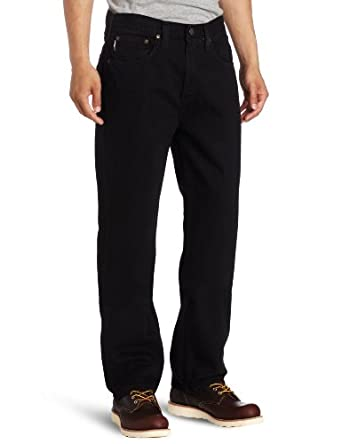 Carhartt Men's  Relaxed Straight Colored Denim,Black (Closeout),30 x 32